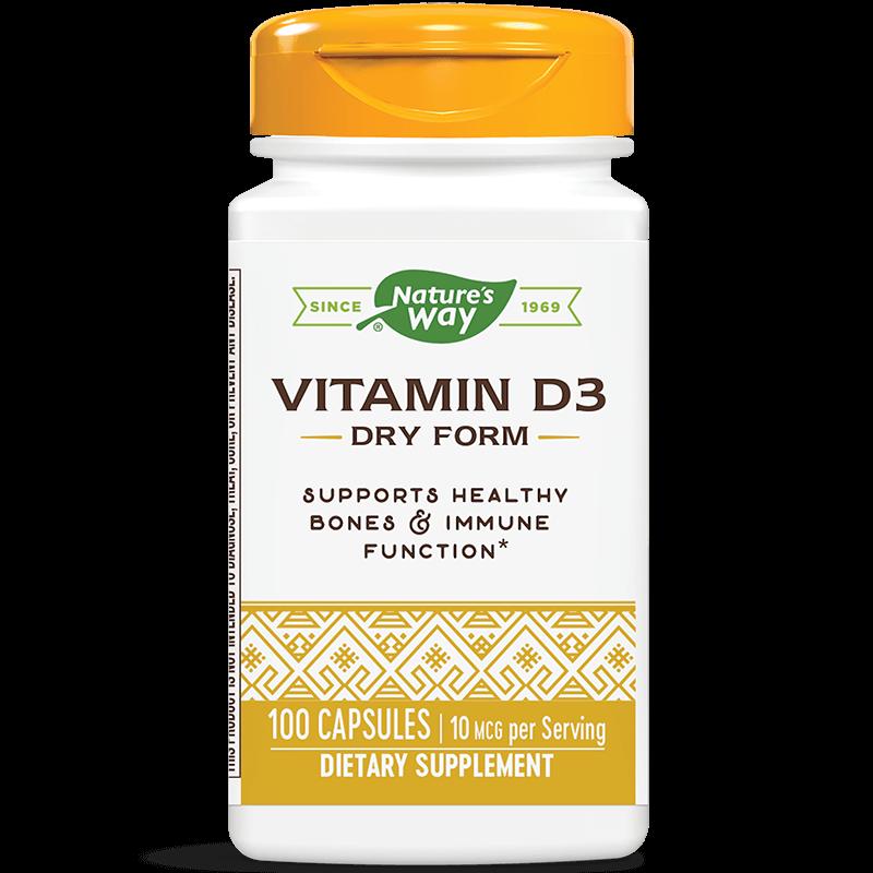 Vitamin D3 Dry Form/ Витамин D3 (сух) 400 IU х 100 капсули