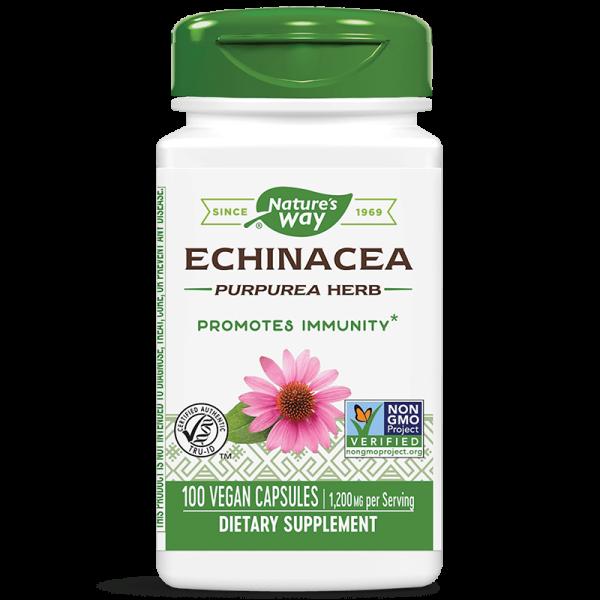 Ехинацея (билка) 400 mg х 100 капс. Nature's Way - 1