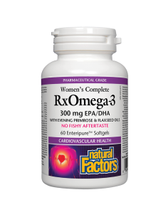 Women's Complete RX Omega 3 Factors (Омега Фактор за Жени) 1035 mg х 60 софтгел капсули Natural Factors - 1