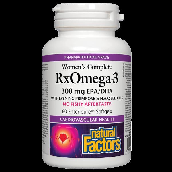 Women's Complete RX Omega 3 Factors (Омега Фактор за Жени) 1035 mg х 60 софтгел капсули Natural Factors - 1