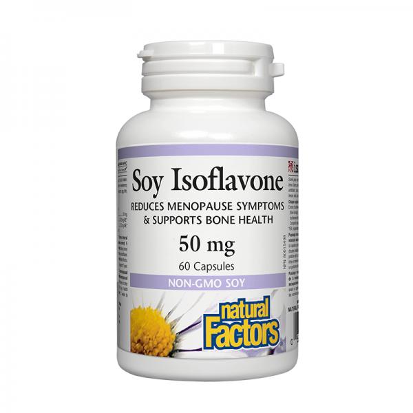 Соя изофлавони Комплекс 50 mg х 60 капсули Natural Factors - 1