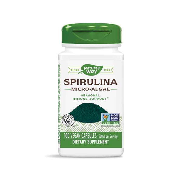 Спирулина (микро-водорасли) 380 mg Nature's Way - 1