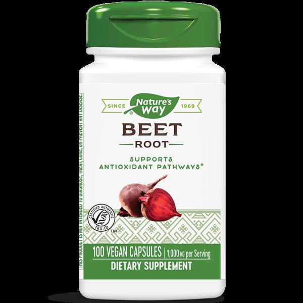 Червено цвекло (корен) 500 mg х 100 капс. Nature's Way - 1