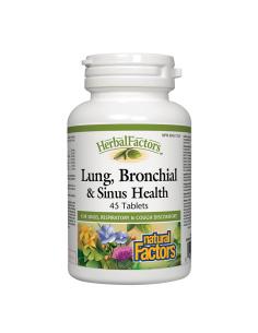 Lung, Bronchial and Sinus Health (бял дроб, бронхи и синуси)  х 45 таблетки Natural Factors - 1