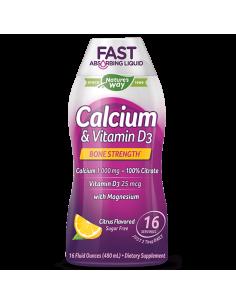 Течен Калций и Витамин D3 (цитрус) 480 ml Nature's Way - 1