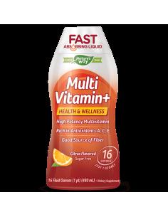 Течен Мултивитамин + WELLESSE® (цитрус) 480 ml Nature's Way - 1