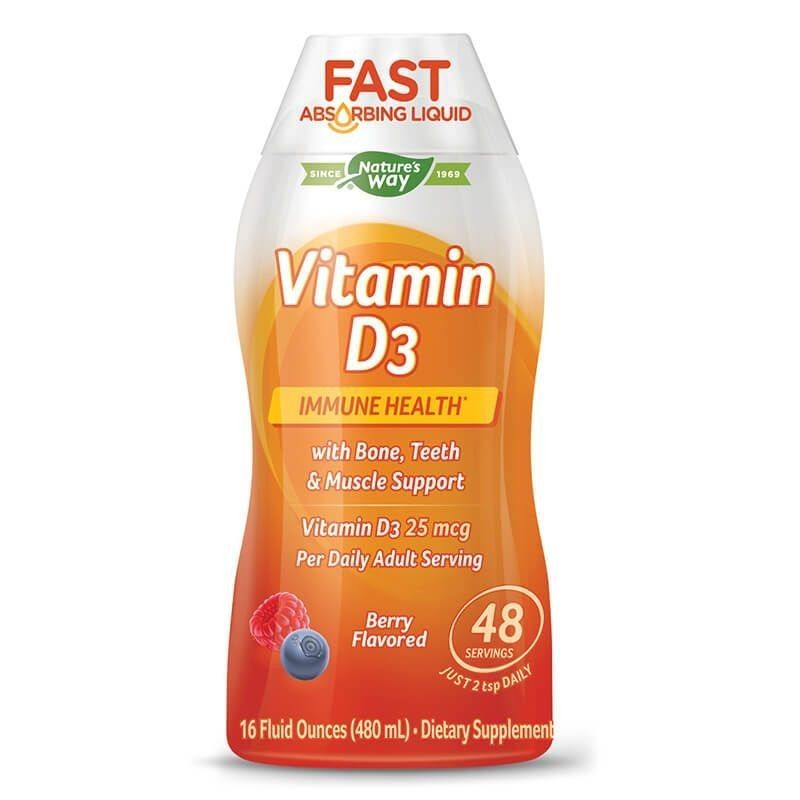 Течен Витамин D3 (Горски плодове) 480 ml Nature's Way - 1