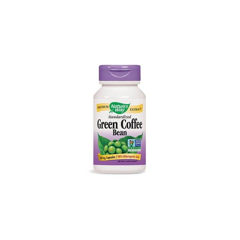 Зелено Кафе на Зърна 500 mg x 60 V-капс. Nature's Way - 1