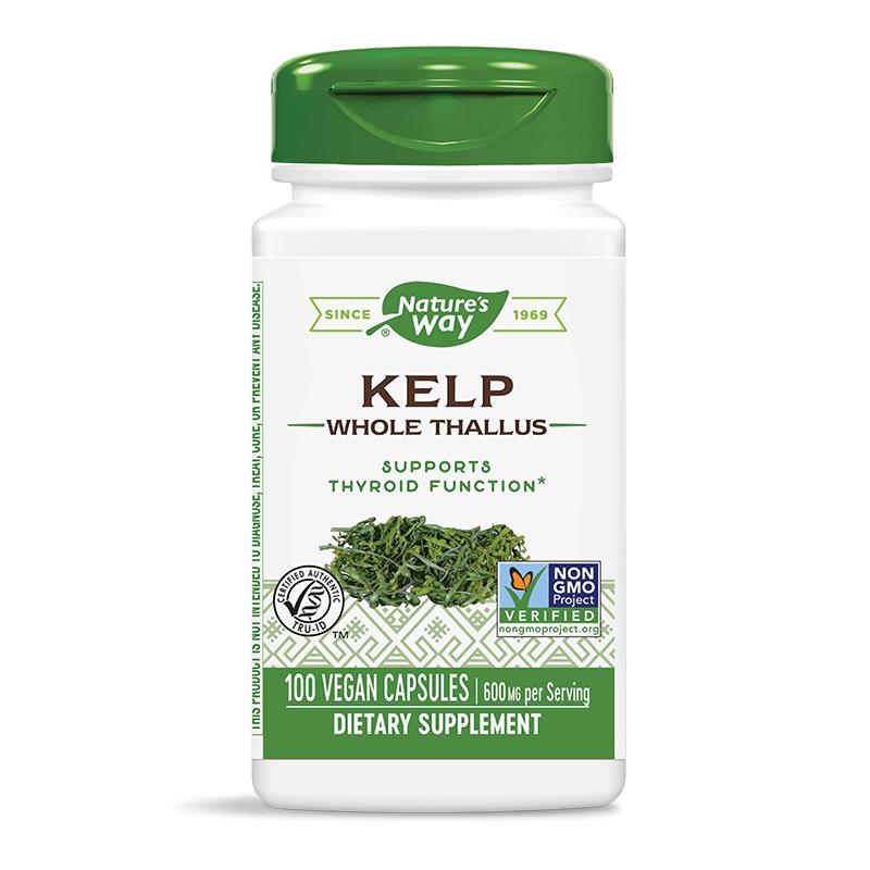 Kelp Whole Thallus/ Келп / Kафяви водорасли 600 mg x 100 капсули