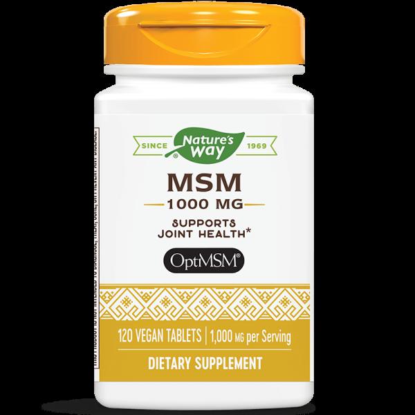 МСМ / Метилсулфонилметан 1000 mg x 120 таблетки Nature's Way - 1