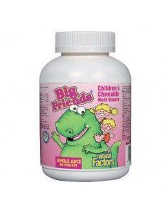 Мултивитамини BigFriends® за деца (плодове от джунглата) 268 mg х 60 дъвчащи таблетки Natural Factors - 1