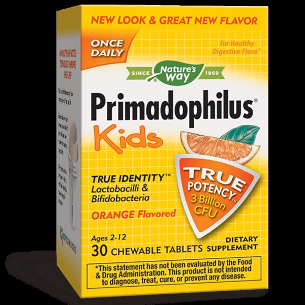 Примадофилус Кидс Портокал 3 млрд. активни пробиотици Nature's Way - 1