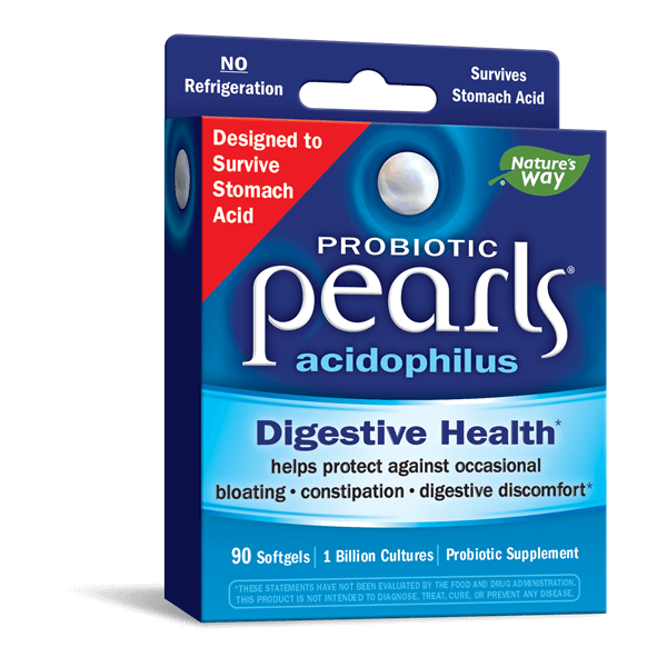 Пробиотик Pearls/ Пърлс AC 1 милиард активни пробиотици x 90 софтгел капс. Nature's Way - 1