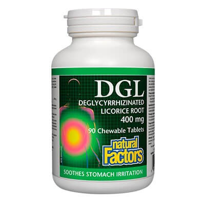 Ди Джи Ел (DGL) / Женско биле (Ликорис) 400 mg Natural Factors - 1