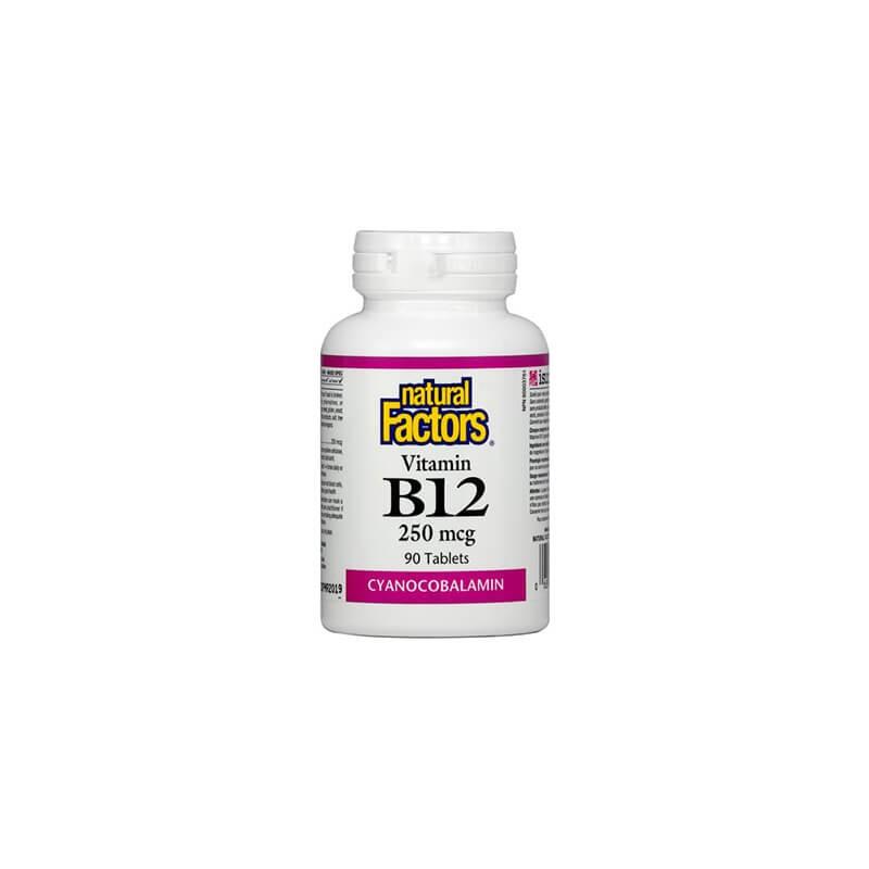 Витамин В12 250 mcg 90 таблетки Natural Factors - 1