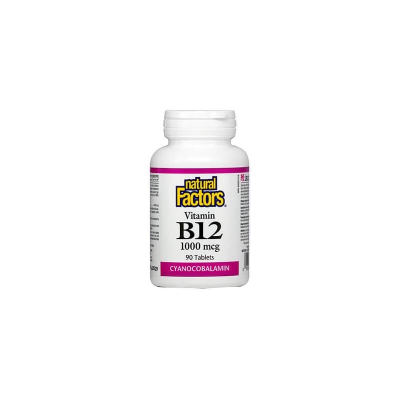 Витамин В12 1000 mcg 90 таблетки Natural Factors - 1