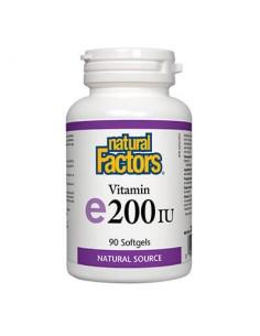 Витамин Е 100 mg / 200 IU (d-алфа токоферол) Natural Factors - 1