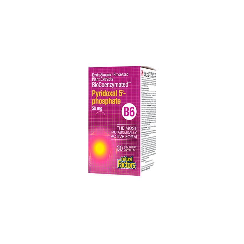 Витамин В6 (Пиридоксал-5-Фосфат) 50 mg Natural Factors - 1