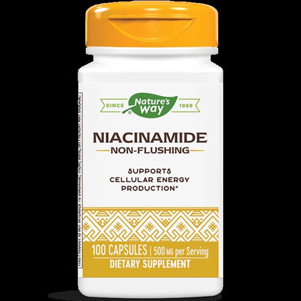 Ниацинамид (витамин В3/непредизвикващ зачервяване) 500 mg Nature's Way - 1