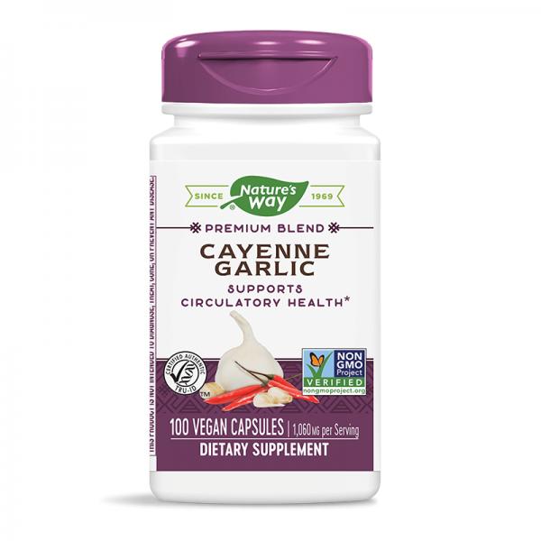 Лют червен пипер + чесън 530 mg Nature's Way - 1