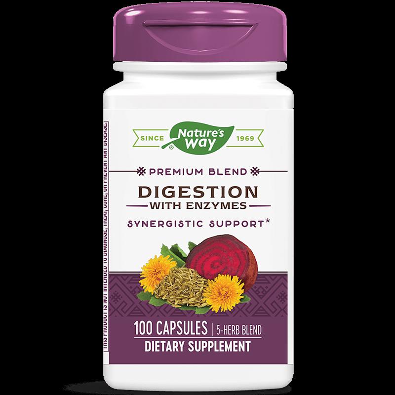 Digestion with Enzymes / Храносмилателни ензими х 100 капсули