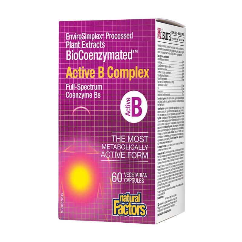 Active В Комплекс х 60 V капсули BioCoenzymated™ Natural Factors - 1