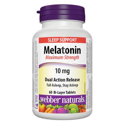 Melatonin Maximum Strength/ Мелатонин 10 mg х 60 двуслойни таблетки