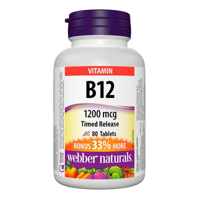 Витамин В12 1200 µg (С удължено освобождаване) Webber - 1