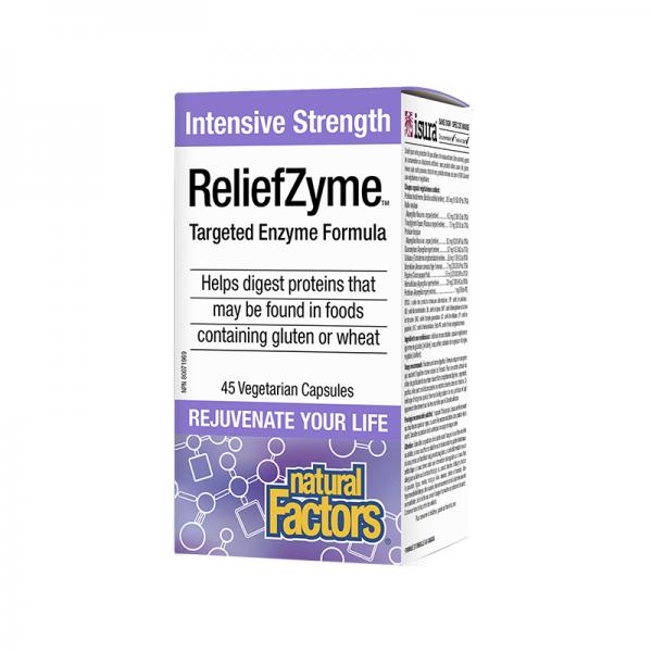 ReliefZyme™ Ензимна формула x 45 V-капсули Natural Factors - 1