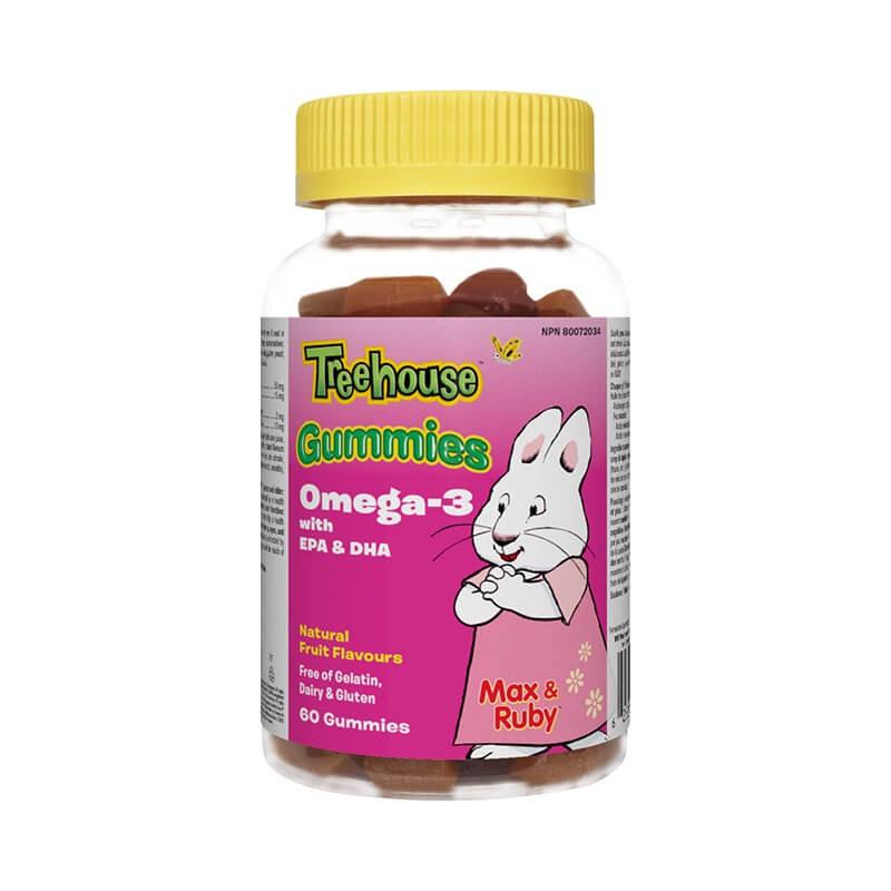 Oмега-3 за деца гъми Treehouse™ (EPA и DHA) x 60 желирани таблетки Webber - 1