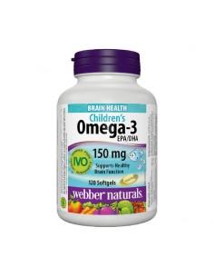 Омега-3 за деца 250 mg x 120 софтгел капсули Webber - 1