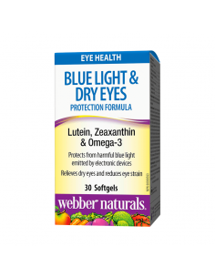 Blue Light & Dry Eyes Protection Formula (с лутеин, зеаксантин и омега 3) х 30 софтгел капсули Webber - 1