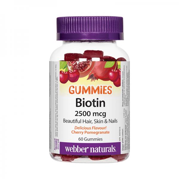Биотин гъми 2500 mcg x 60 желирани таблетки Webber - 1