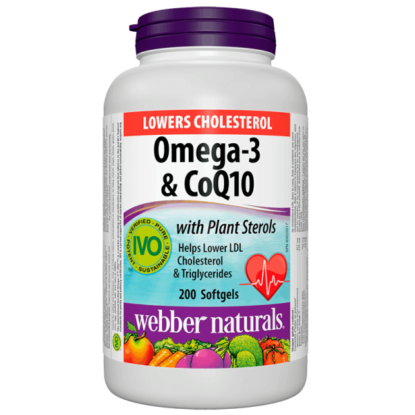 Lower Cholesterol (Омега-3, фитостероли и коензим Q10) Webber - 1