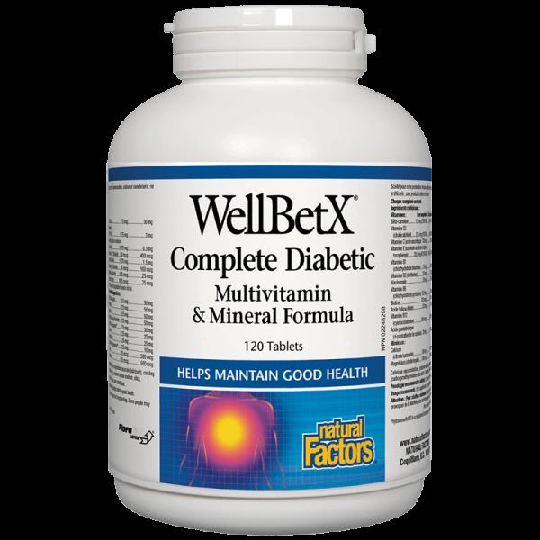 WellBetX®Complete Diabetic /Мултивитамини за диабетици/ Natural Factors - 1