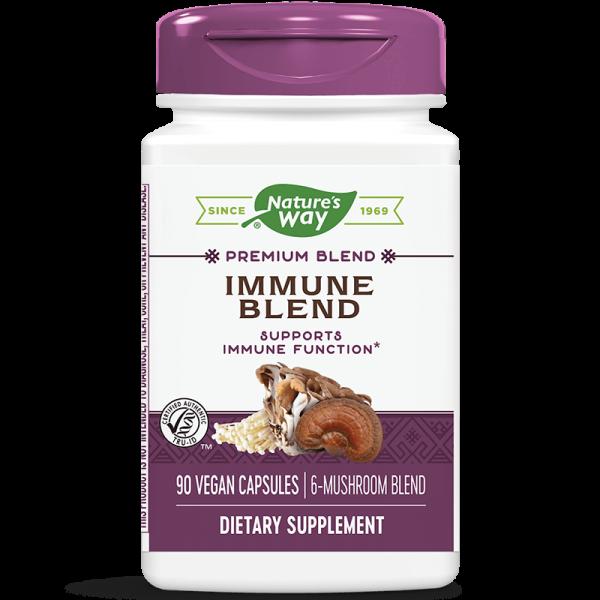 Immune Blend x 90 капсули /Екстракти от медицински гъби за силен имунитет/ Nature's Way - 1