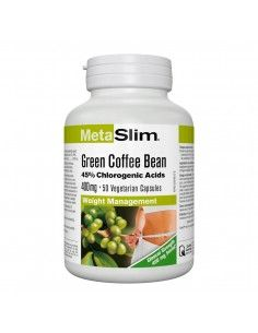 METASLIM® Зелено кафе на зърна 400 mg x 50 V-капсули Webber - 1