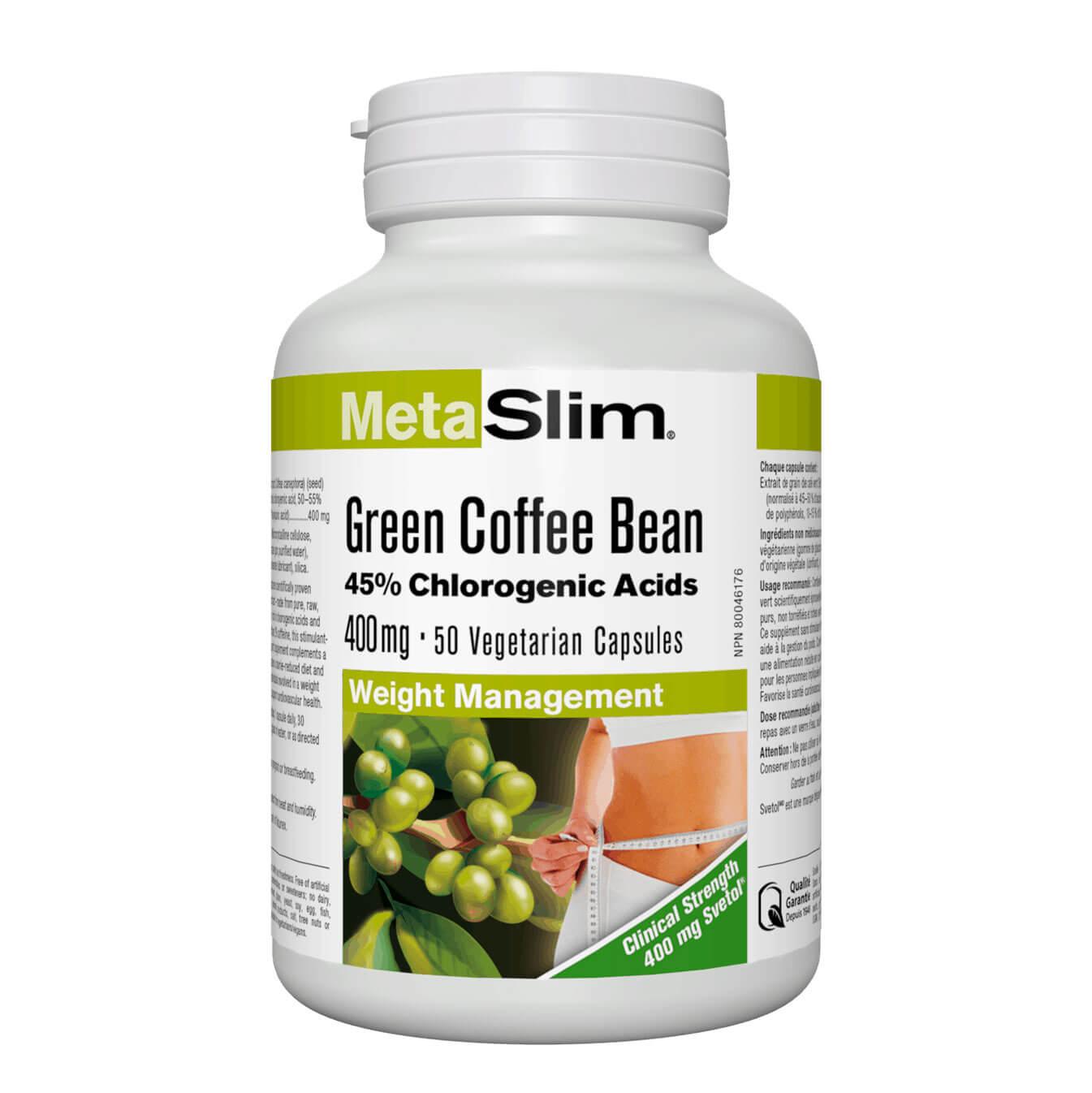 MetaSlim® Green Coffee Bean/ Зелено кафе (зърна) 400 mg x 50 капсули