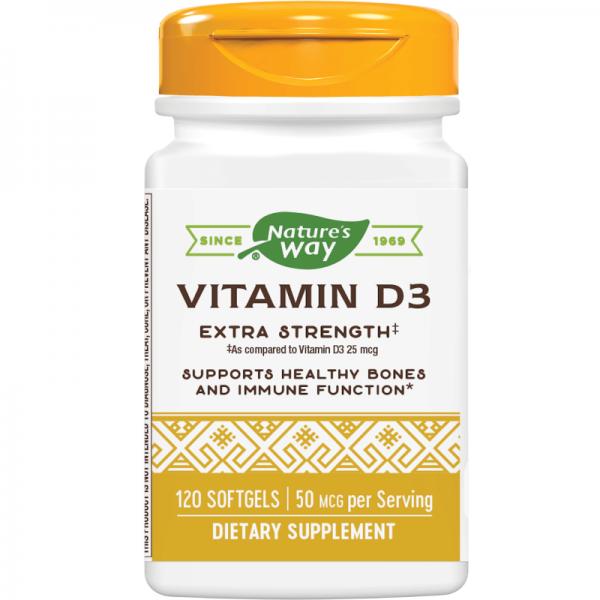 Витамин D3 2000 IU x 120 софтгел капсули Nature's Way - 1