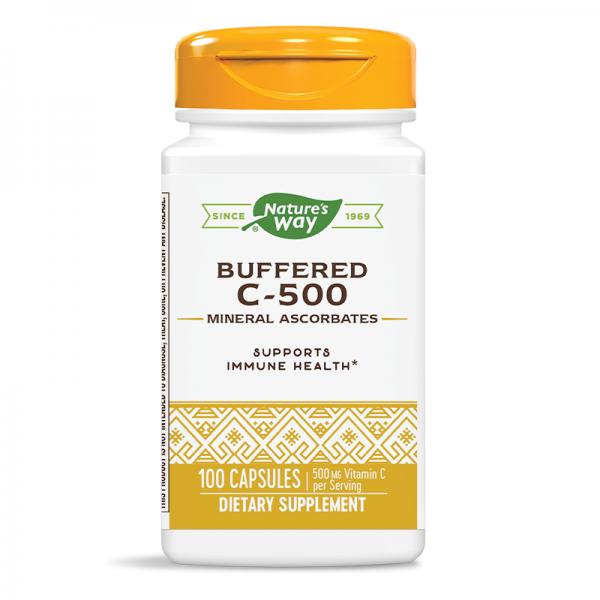 Витамин С (Буфериран) 500 mg x 100 капс. Nature's Way - 1
