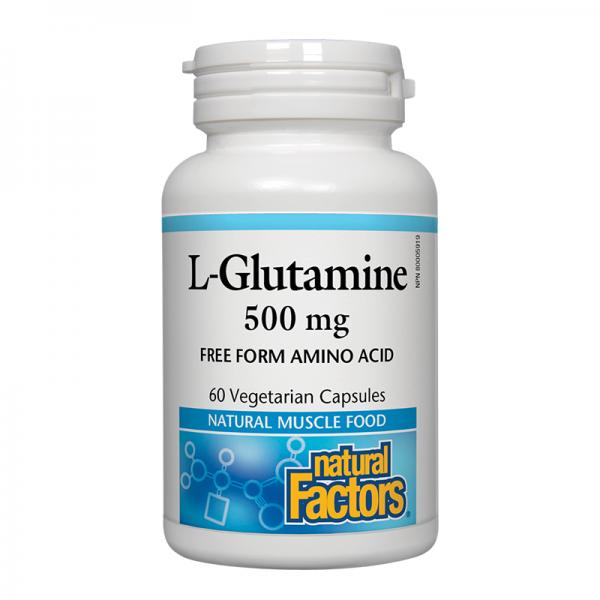 Л-Глутамин 500 mg х 60 V капсули Natural Factors - 1