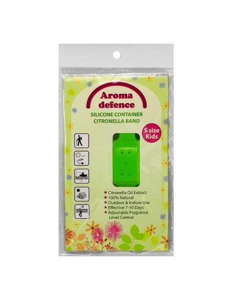"Силиконова гривна ""Aroma Defence"" /контейнер/ за деца с аромат на Цитронела - 1бр/оп.  - 1"