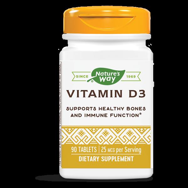 Витамин D3 1000 IU x 90 таблетки Nature's Way - 1