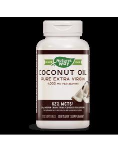 Кокосово масло оргáник 1000 mg (чисто, студено пресовано) Nature's Way