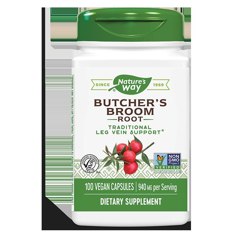 Butcher`s Broom Root/ Бодлив залист (корен)/ Рускус 470 mg x 100 капсули