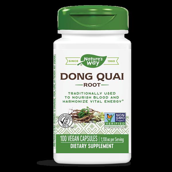 Китайска ангелика /Донг Куай (корен) 565 mg x 100 капсули Nature's Way - 1