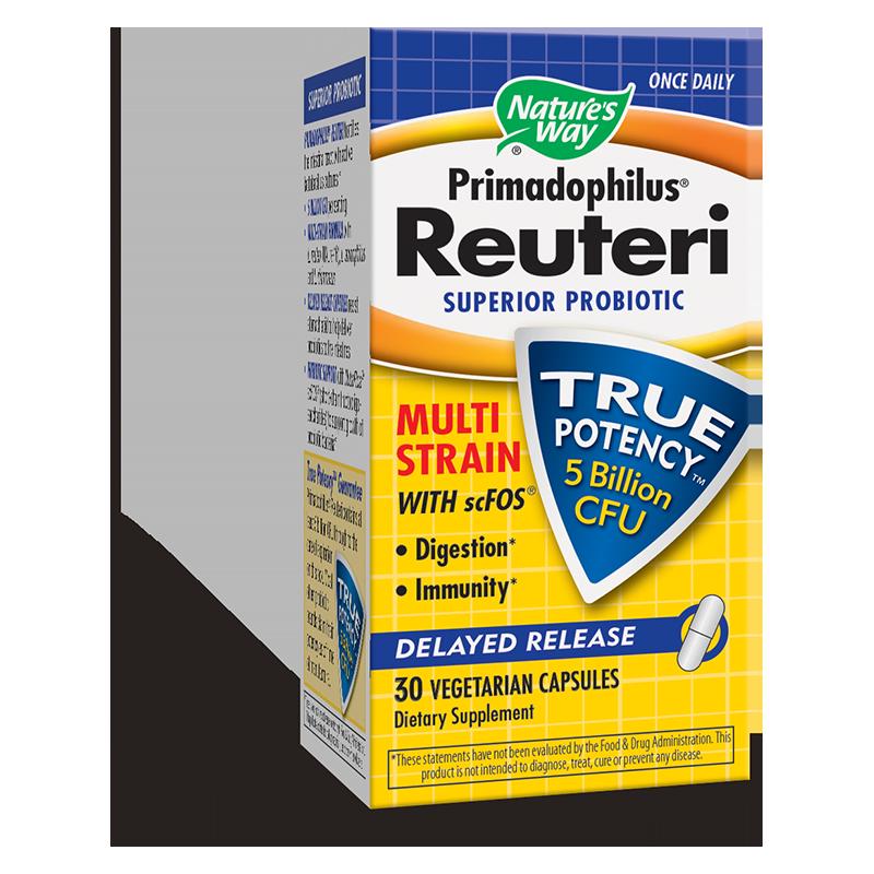 Primadophilus® Reuteri/ Примадофилус® Реутери 5 млрд. активни пробиотици х 30 капсули