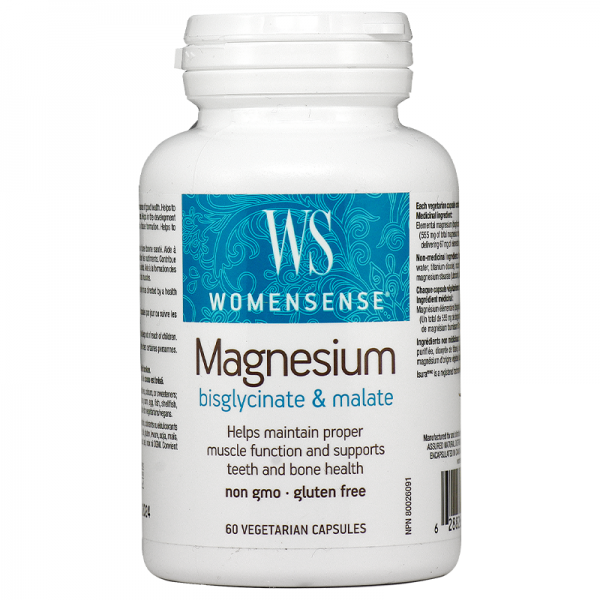 Магнезий WOMENSENSE® (бисглицинат & малат) 67 mg Natural Factors - 1