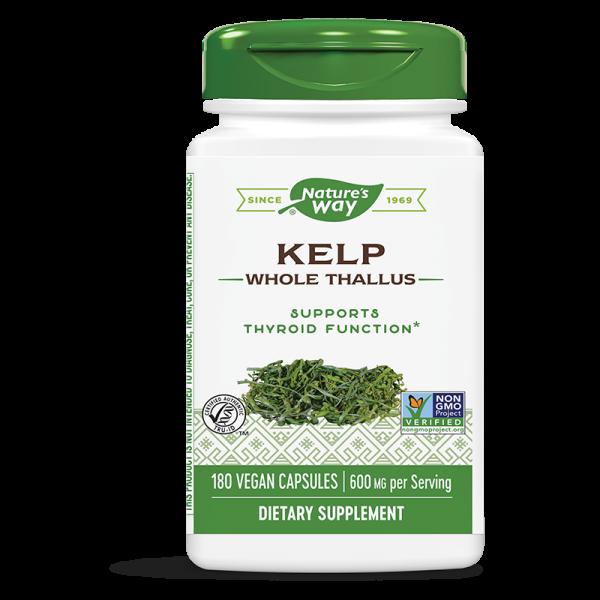 Келп (кафяви водорасли) 600 mg x 180 капс. Nature's Way - 1