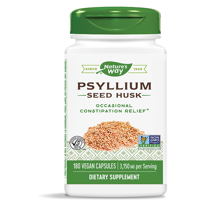 Psyllium Seed Husk/ Теснолист живовляк/ Хуск (люспи) 525 mg х 180 капсули